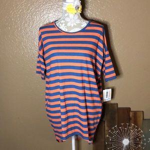 XS LuLaRoe Irma striped shirt